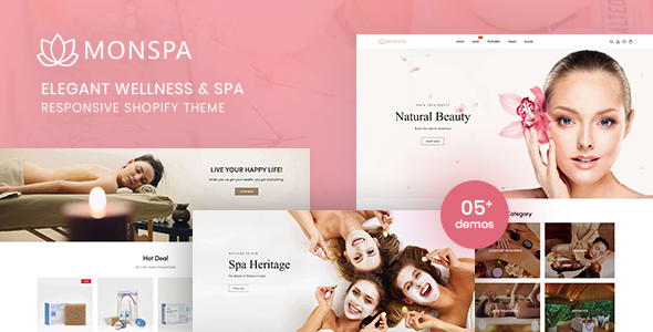 Monspa –  Elegant Wellness And Spa Responsive Shopify Theme