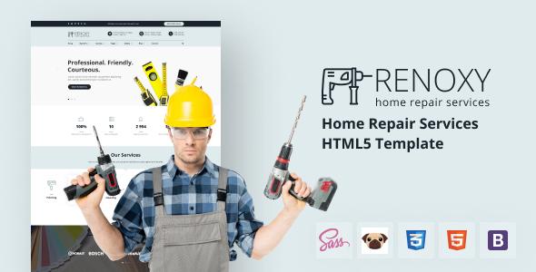 Wonderful Renoxy - Home Repair Services HTML5 Template