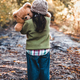 Little girl hugs her bear on a background of nature, autumn, durba - PhotoDune Item for Sale