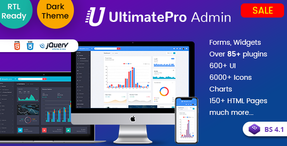 Extraordinary UltimatePro - Bootstrap 4 Admin Dashboard Templates and WebApps