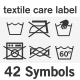 42 Textile Care Label Symbols - GraphicRiver Item for Sale