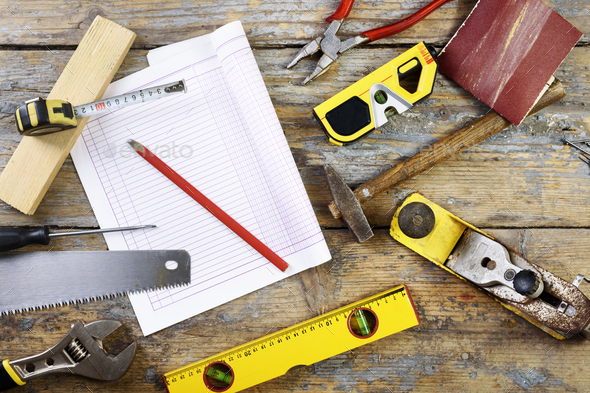 Carpenter's tools - Stock Photo - Images
