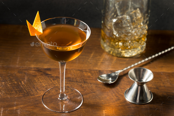 Boozy Refreshing Bamboo Cocktail - Stock Photo - Images