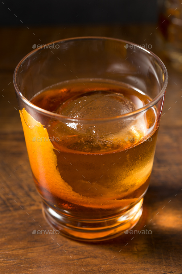 Boozy Refreshing Rye Whiskey Vieux Carre Cocktail - Stock Photo - Images