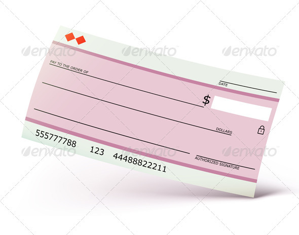 Bank check - Business Conceptual