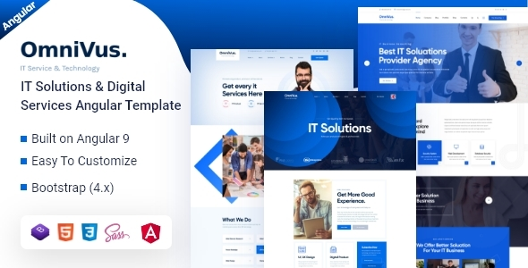 Omnivus - Angular 9 IT Solutions & Digital Services Template