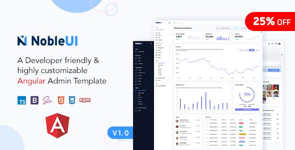 NobleUI - Angular 10+ Admin Template