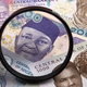 Nigerian money in a magnifying glass - PhotoDune Item for Sale