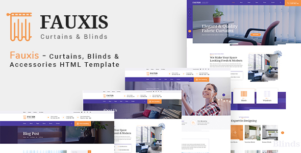 Fauxis - Windows Curtains & Doors Service HTML Template