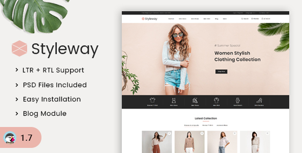 Styleway – Trendy Online Fashion Prestashop 1.7 Responsive Theme