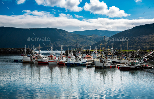 Pier fishing vessels - Stock Photo - Images