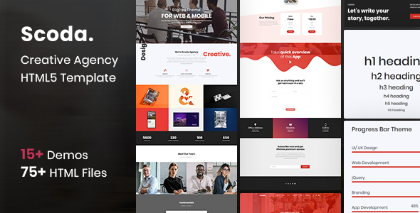 Extraordinary Scoda  - Multipurpose One Page HTML5 Template