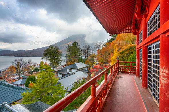 Chuzenji Temple, Nikko, Japan - Stock Photo - Images