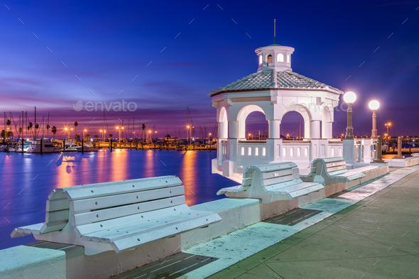 Corpus Christi, Texas, USA on the Seawall - Stock Photo - Images