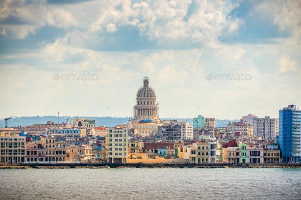 Havana, Cuba Town Cityscape - Stock Photo - Images