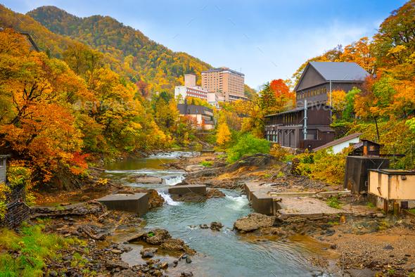 Jozankei, Japan Town View - Stock Photo - Images