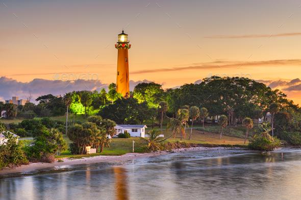 Jupiter, Florida, USA at Jupiter Inlet Light - Stock Photo - Images