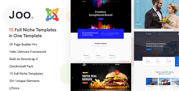 Joo – Niche Multi-Purpose Joomla Template