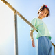 9-year-old girl posing happily on a staircase - PhotoDune Item for Sale