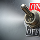 Retro toggle switch ON OFF on metal background. - PhotoDune Item for Sale