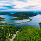 Aerial view of blue lakes and green forest. Krka river national park, Croatia - PhotoDune Item for Sale
