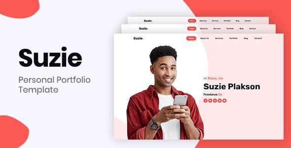 Suzie – Bootstrap 4 Personal Portfolio