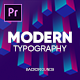 Modern Typography for Premiere Pro CC  | Responsive Design | MOGRT - VideoHive Item for Sale