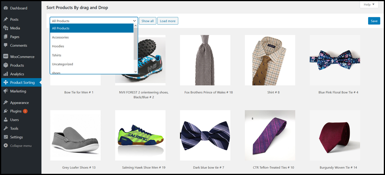WooCommerce - Sort Products For Shop & Category Pages