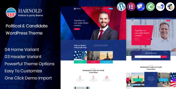 Harnold - Political Campaign WordPress Theme