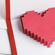 Pixelated heart in an envelope - PhotoDune Item for Sale