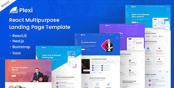 Download Plexi - React Multipurpose Landing Page Template }}