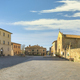 Main square in Monteriggioni fortified village, Siena, Tuscany. Italy - PhotoDune Item for Sale