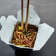 Tasty Udon noodles pasta with tempuru, shrimps wok in box delivery - PhotoDune Item for Sale