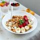 Healthy breakfast bowl, fresh granola, muesli with berries strawberry, banana - PhotoDune Item for Sale