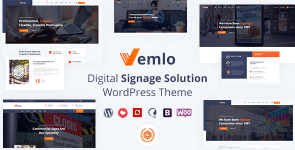Vemlo - Signage Services WordPress Theme