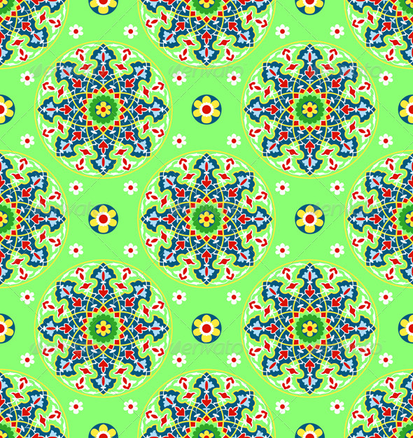 Green Islamic Pattern - Patterns Decorative