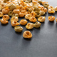 Pasta tortellini on black background, closeup view. Cooking italian cuisine concept - PhotoDune Item for Sale