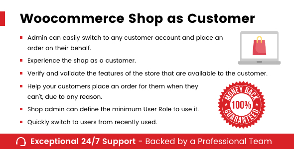 WooCommerce Shop As Customer