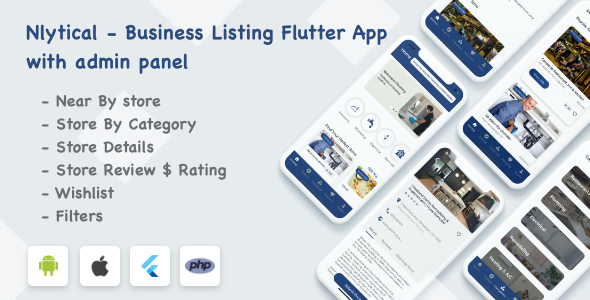 Business Listing Flutter App with Admin Panel