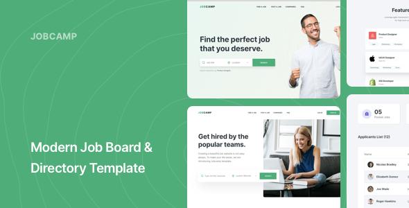 Jobcamp – Job Board & Directory Responsive Template