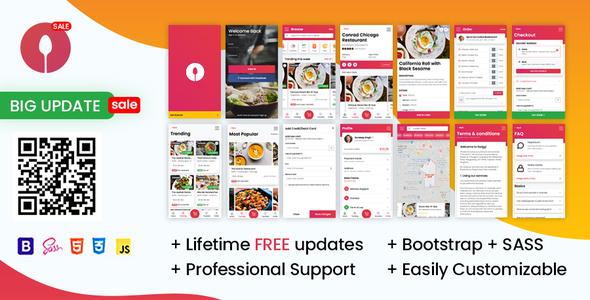 Swiggi – Online Food Ordering Website Mobile Template