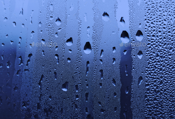 water drops on glass - Stock Photo - Images