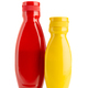 Ketchup and mustard sauce bottle isolated on white background - PhotoDune Item for Sale