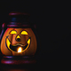 Jack O Lantern halloween pumpkin on black background - PhotoDune Item for Sale