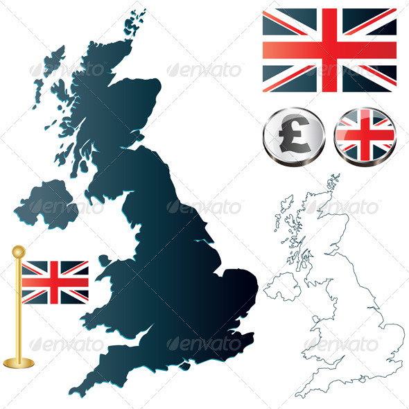United Kingdom map - Travel Conceptual