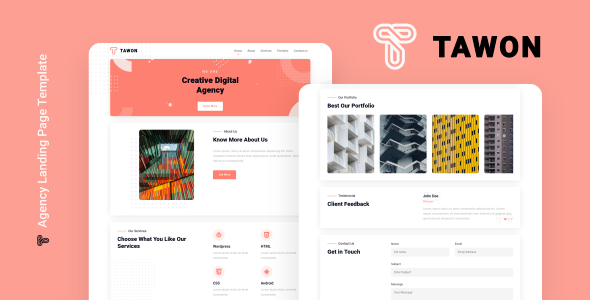 Tawon - Agency Landing Page Template
