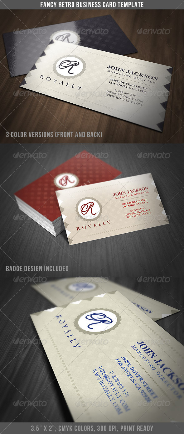 Fancy retro business card by discoverit graphicriver fancy retro business card retrovintage business cards colourmoves