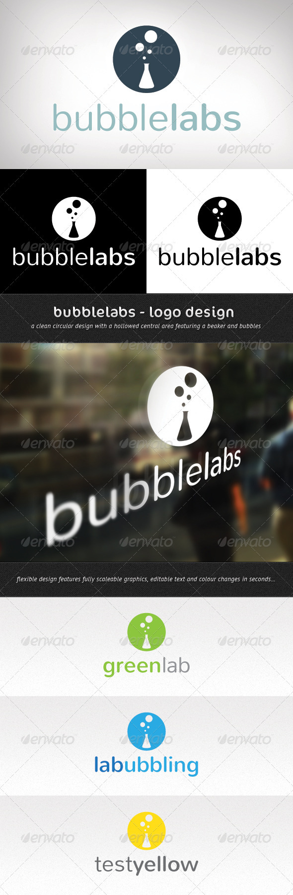 Bubble Labs Logo Design - Objects Logo Templates