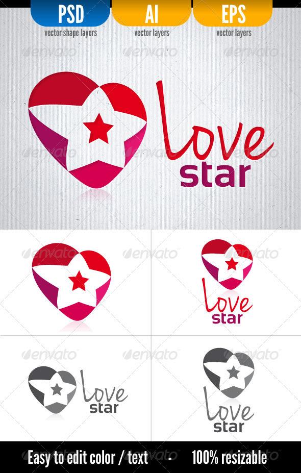 Love Star - Symbols Logo Templates