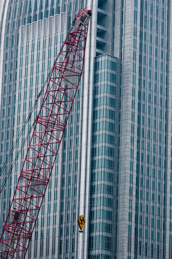 Crane before building - Stock Photo - Images